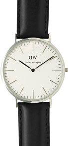 Daniel Wellington Men's Classic Stainless Steel Leather Strap Watch