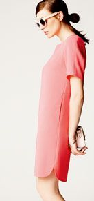 COLLECTION by John Lewis Gabrielle Crepe Tunic Dress, Watermelon