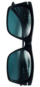 Persol Rectangular Acetate Framed Polarised Sunglasses, Black