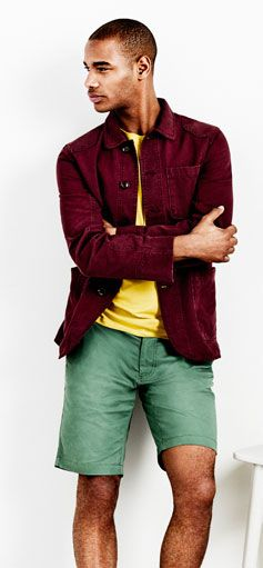Model shot - colourful mens clothes