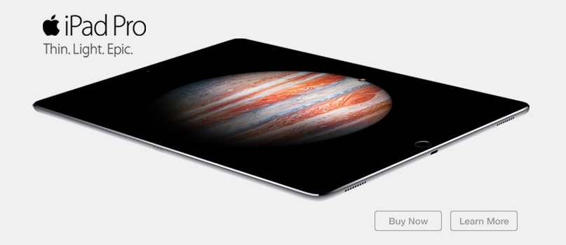 iPad Pro. Thin. Light. Epic.