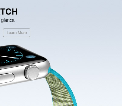 Apple Watch. You. At a glance. Learn More