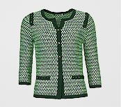Betty Barclay Tweed Effect Cardigan, Dark Green / Emerald, £100