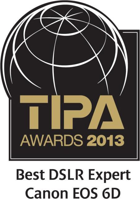 TIPA Awards 2013 - Best DSLR Expert Canon EOS 6D