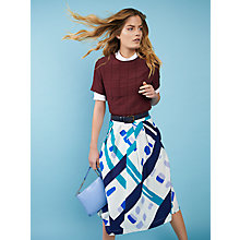 Buy Kin by John Lewis Latice Oversized Check Skirt, Multi Online at johnlewis.com