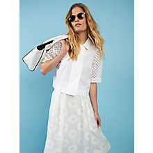 Buy French Connection April Lace Short Sleeve Shirt, Summer White Online at johnlewis.com