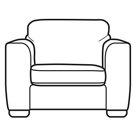 Buy John Lewis Felix Armchair with Light Legs, Elena Mocha Online at johnlewis.com