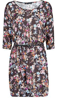 Mango Floral Print Lightweight Dress