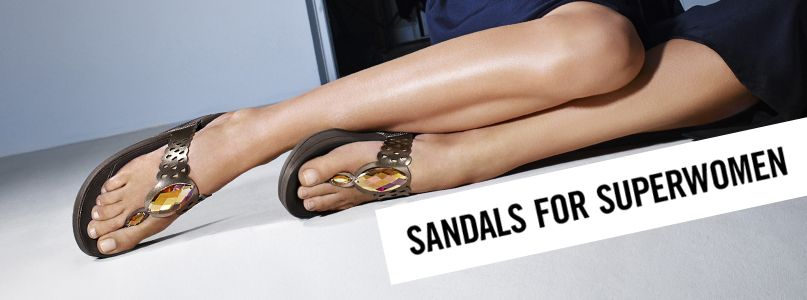 Sandals for superwomen