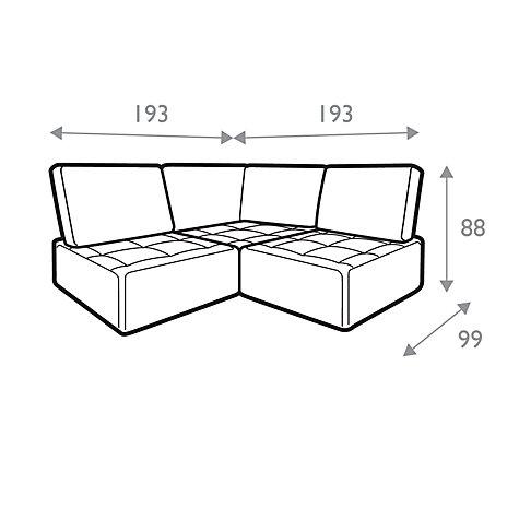 Buy House By John Lewis Flex Small Corner Sofa Fraser Red