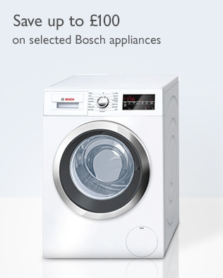 Save up to £100 - on selected Bosch appliances