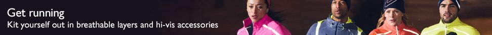 Get running - Kit yourself out in breathable layers and hi-vis accessories