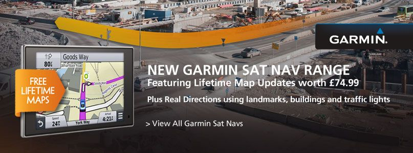 Choose a Garmin Sat Nav with lifetime maps included out of the box worth £74.99