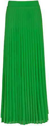 Ted Baker Miquaj Pleated Maxi Skirt, Green