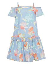 John Lewis Heirloom Collection Girls' Drop Shoulder Dress, Blue