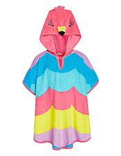 John Lewis Girls' Tropical Bird Hooded Poncho, Multi
