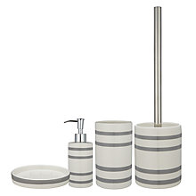 Buy Grey Stripe Bathroom Accessories range Online at johnlewis.com
