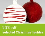 20% off selected Christmas baubles