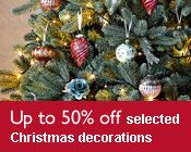 50% off selected Christmas decorations