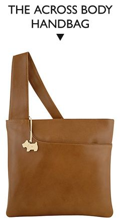 Radley Pocket Large Leather Across Body Bag, Tan
