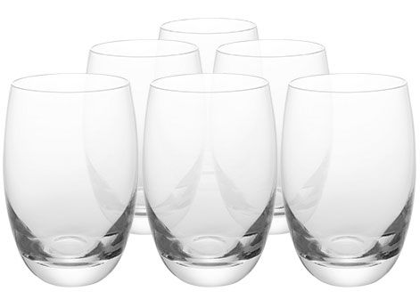 John Lewis Barrel glasses, set of 6