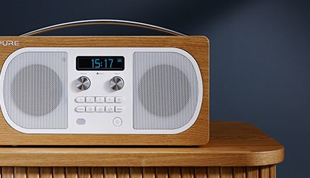 Pure Evoke D6 DAB FM Bluetooth Radio Oak