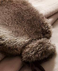 John Lewis Faux Fur Hot Water Bottle