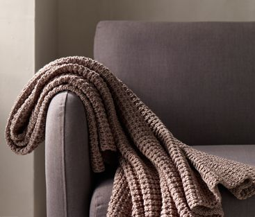 House by John Lewis Cable Knit Throw