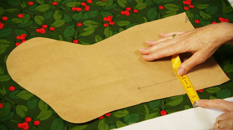 Video: How to make a Christmas stocking