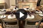 How to set a dinner table - video