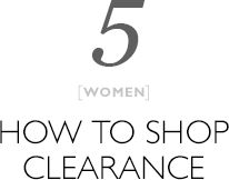 5 - How To Shop Clearance