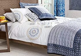 Fusion-themed bedding for a fresh new bedroom look and feel