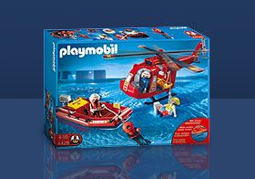 Playmobil Rescue Helicopter and Boat set