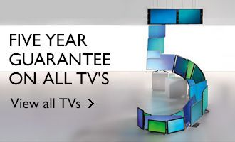 Five year guarantee on all TV's