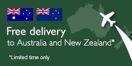 Enjoy free delivery to Australia and New Zealand on all orders over £100 *for a limited time only