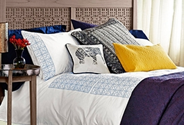 Make a statement with patterned bedding