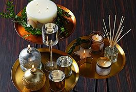 Aromatic Christmas candles and home fragrance