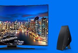 Buy a new Samsung HU7200 Curved TV, and get a wireless audio system free