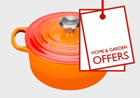 Up to 50% off home and garden