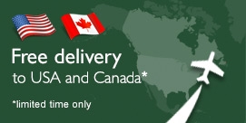 Free delivery to USA and Canada* *limited time only