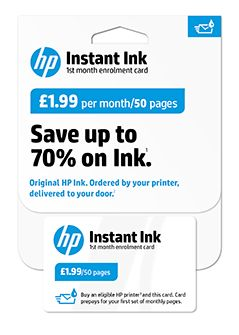 HP Instant Ink Enrolment Kit, 50 Pages