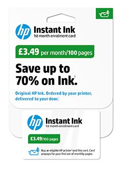 HP Instant Ink Enrolment Kit, 100 Pages