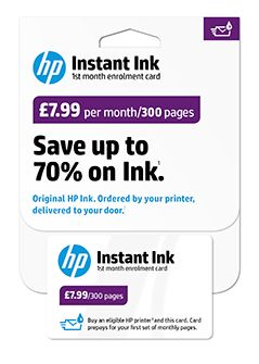 HP Instant Ink Enrolment Kit, 300 Pages