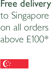 Free Delivery to singapore when you spend more than £100