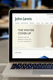 Laptop with JohnLewis.com on the screen