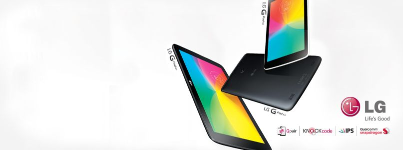 Introducing the stylish new range of LG G Pads