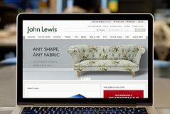 John Lewis website on Mac laptop