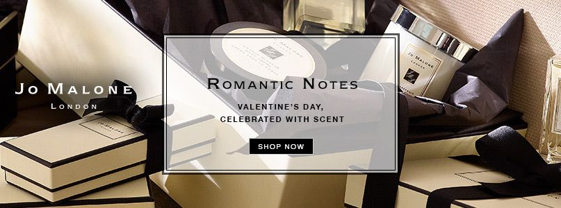 Romantic notes - Valentines day, celebrated with scent