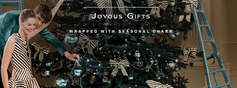 Joyous gifts wrapped with seasonal charm