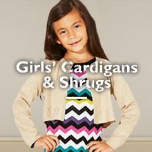Girls' Cardigans & Shrugs